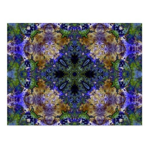 Kaleidoscope Fractal 384 Post Card