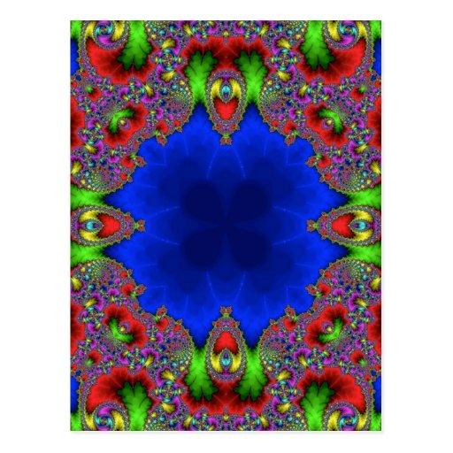 Kaleidoscope Fractal 483 Post Cards