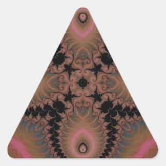 Kaleidoscope Fractal 518 Triangle Stickers