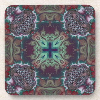 Kaleidoscope Fractal 592 Beverage Coaster