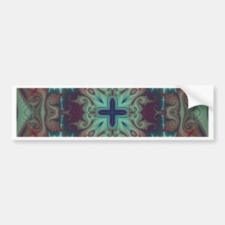 Kaleidoscope Fractal 592 Bumper Sticker