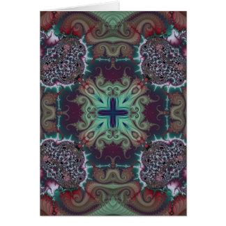 Kaleidoscope Fractal 592 Greeting Card