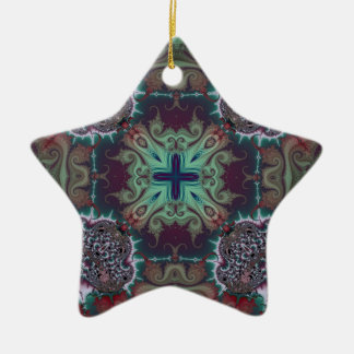 Kaleidoscope Fractal 592 Ceramic Star Decoration