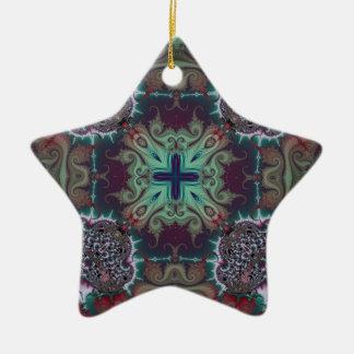 Kaleidoscope Fractal 592 Ceramic Star Decoration