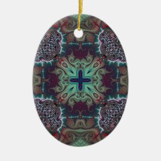 Kaleidoscope Fractal 592 Christmas Tree Ornaments