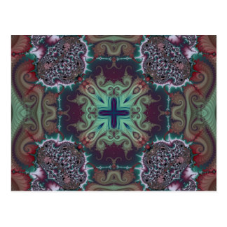 Kaleidoscope Fractal 592 Postcard