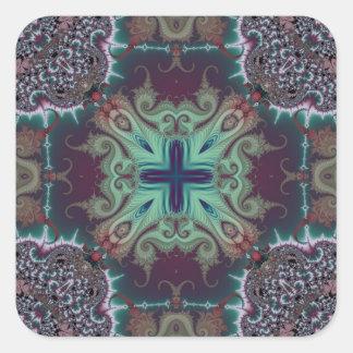Kaleidoscope Fractal 592 Square Sticker