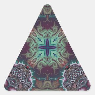 Kaleidoscope Fractal 592 Triangle Sticker