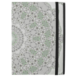 Kaleidoscope Fractal Mandala - grey green