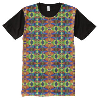 Kaleidoscope Fractal Pattern 03 + your ideas All-Over Print T-Shirt