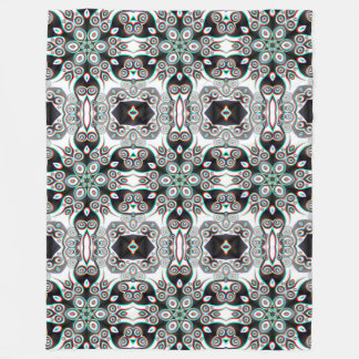 Kaleidoscope Fractal Pattern IVa + your ideas Fleece Blanket