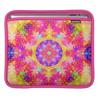 kaleidoscope fractal pink yellow iPad sleeve