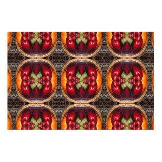 kaleidoscope fruit art photo print