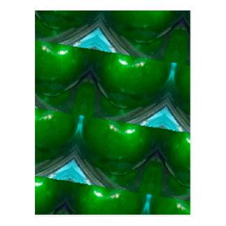 kaleidoscope Green apple's.jpg Postcard