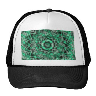 kaleidoscope, green trucker hat