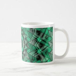 kaleidoscope, green coffee mugs