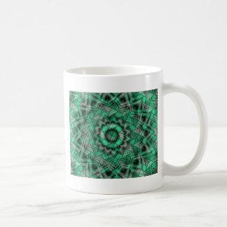 kaleidoscope, green coffee mug
