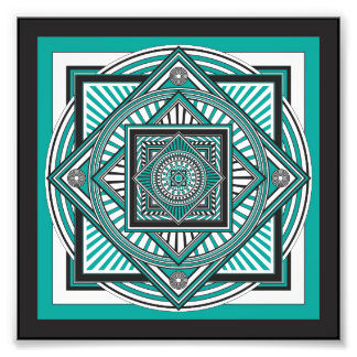 Kaleidoscope GREEN Photo Print