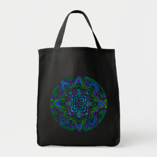 Kaleidoscope Grocery Tote Bag