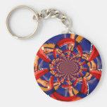 kaleidoscope hand playing red keyboard orange blue key chains