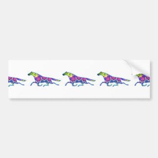Kaleidoscope Horse design image Bumper Stickers