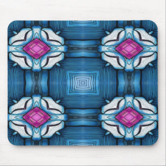 Kaleidoscope in Blue Mouse Pad