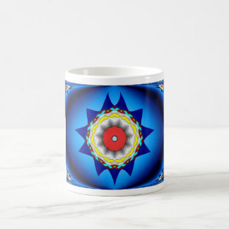 Kaleidoscope In Blue Mug