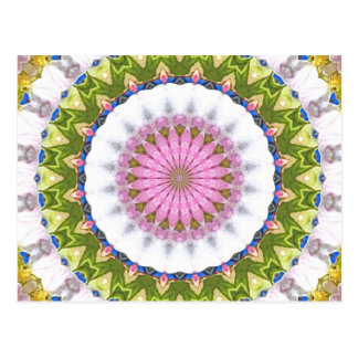 Kaleidoscope In Green and Blue Postcard
