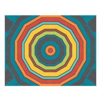 "Kaleidoscope in retro colors 8.5"" x 11"" flyer"
