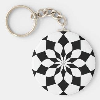Kaleidoscope 'K2 SQ' Basic Round Button Key Ring
