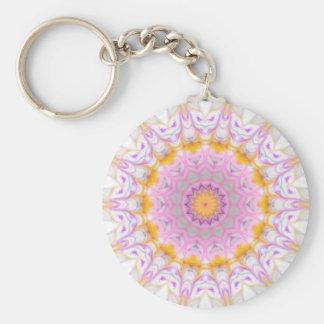 kaleidoscope keyring basic round button key ring