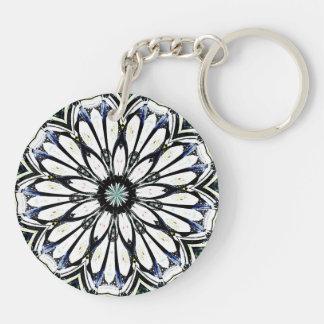 Kaleidoscope Keyring Double-Sided Round Acrylic Key Ring