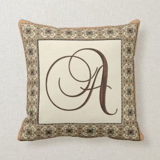Kaleidoscope Kreations Monogram Letter A Pillow