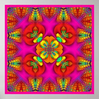 Kaleidoscope Kreations Neon Purr Poster