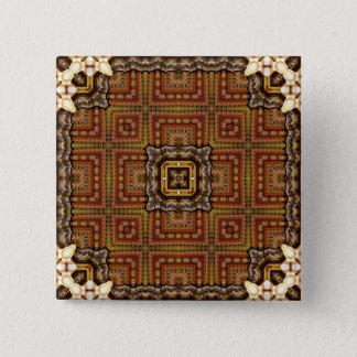 Kaleidoscope Mandala in Hungary: Matthias Pattern 15 Cm Square Badge