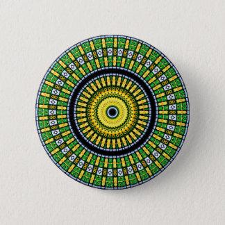 Kaleidoscope Mandala in Hungary: Pattern 197.3 6 Cm Round Badge