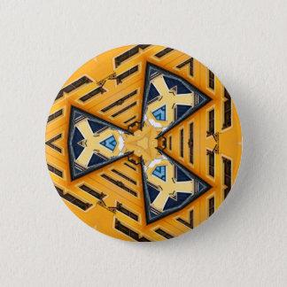 Kaleidoscope Mandala in Hungary: Pattern 201 6 Cm Round Badge