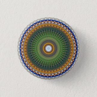 Kaleidoscope Mandala in Portugal: Embassy Pattern 3 Cm Round Badge