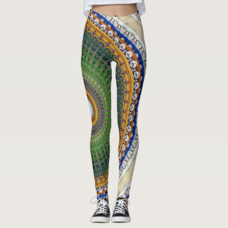 Kaleidoscope Mandala in Portugal: Embassy Pattern Leggings