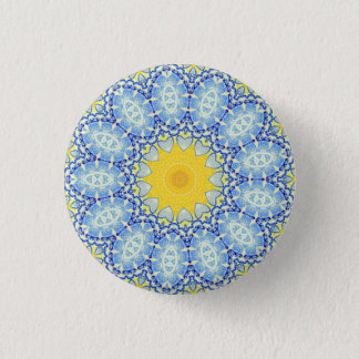 Kaleidoscope Mandala in Portugal: Pattern 224.10 3 Cm Round Badge
