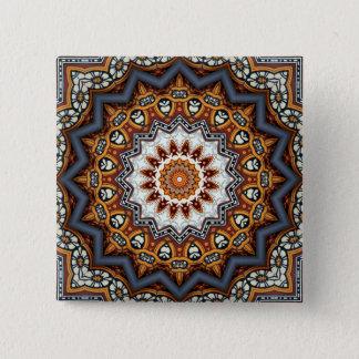 Kaleidoscope Mandala in Portugal: Pattern 224.11 15 Cm Square Badge