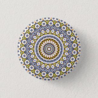 Kaleidoscope Mandala in Portugal: Pattern 224.7 3 Cm Round Badge