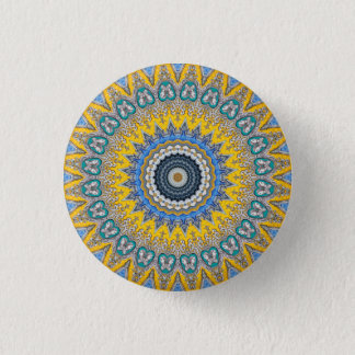 Kaleidoscope Mandala in Portugal: Pattern 224.8 3 Cm Round Badge