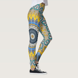 Kaleidoscope Mandala in Portugal: Pattern 224.8 Leggings