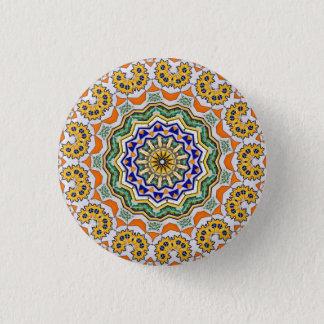 Kaleidoscope Mandala in Portugal: Pattern 232.1 3 Cm Round Badge