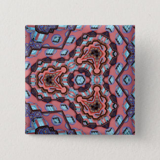 Kaleidoscope Mandala in Slovenia: Escher Pattern 15 Cm Square Badge