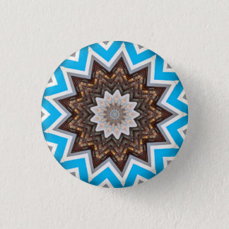 Kaleidoscope Mandala in Slovenia: Pattern 213.1 3 Cm Round Badge
