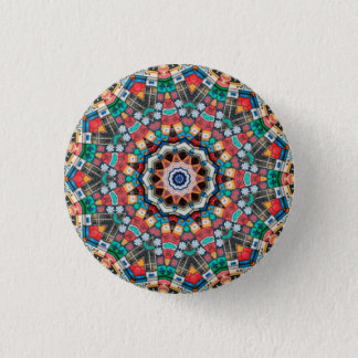 Kaleidoscope Mandala in Slovenia: Pattern 213.3 3 Cm Round Badge