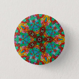 Kaleidoscope Mandala in Slovenia: Pattern 213.4 3 Cm Round Badge