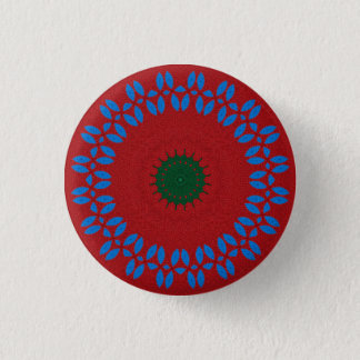 Kaleidoscope Mandala in Slovenia: Pattern 213.5 3 Cm Round Badge